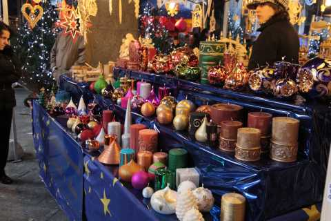 Candles at the Christmas Market, 2009, Milan, Italy