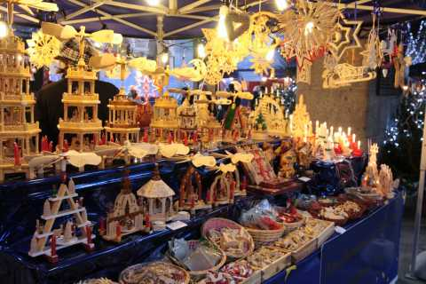 Wooden Gifts at the Christmas Market, 2009, Milan, Italy