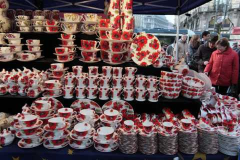 Cups and Mugs - Christmas Market, 2009, Milan, Italy