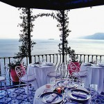 Dine overlooking the Amalfi Coast