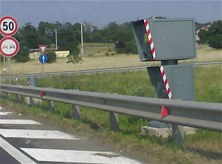 Fixed Roadside Speed Camera in Italy