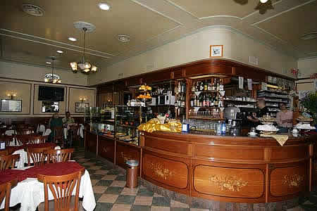 The Inside of bar Cheerful in Milan, Italy