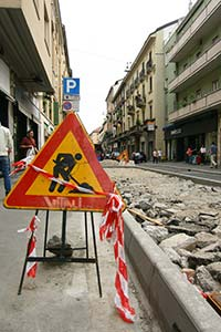 Road Works in Paolo Sarpi, Milan