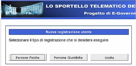 Choose Type of Registration - Select 'Persona Fisica'