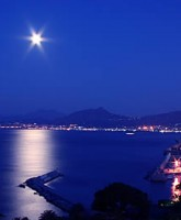 The Gulf of Palermo, Sicily, by night