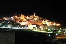 Ostuni, Puglia, by night