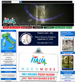 Italy Tourism in Italy website