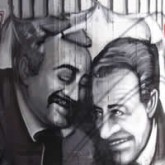 Wall Painting of Murdered anti-mafia judges Borsellino and Falconi