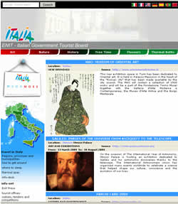 The Enit: Italian Tourism Site