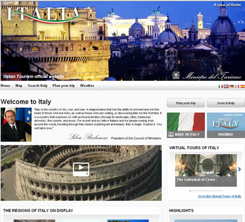 The recently ressurected Italia.it website