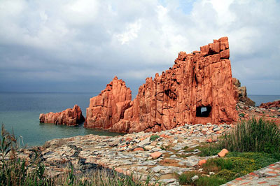 Red rocks of the Arbatax coastline