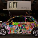 One Cheeky Pop Art Fiat 500