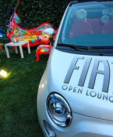 The Fiat 500 at the Fiat Open Lounge, Milan