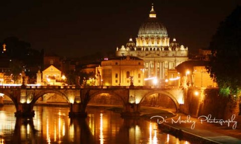Rome by Night by Di Mackey