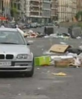 Trash in Naples, Italy