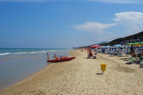 Pineto, A beach in Abruzzo, Italy