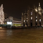Milan's Duomo cathedral by night - Christmas 2010