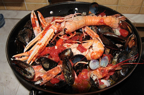 Seafood Soup for the New Year in Italy