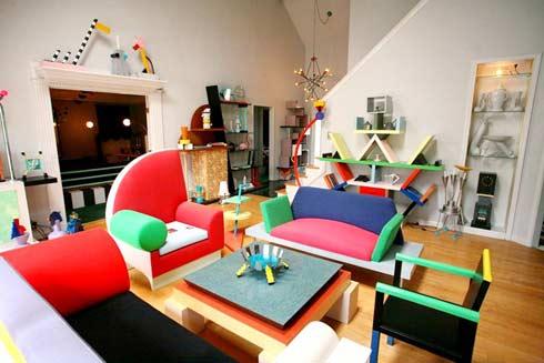 Dennis Zanone's Has a House full of Memphis design