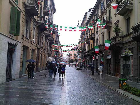 Via Paolo Sarpi in Milan Celebrates 150 Years of Italy