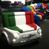 Fiat 500 seating by Meritalia