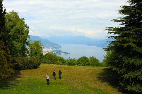 View over Lake Maggiore, Italy