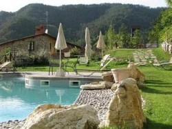 By the Pool in Tuscany, Italy