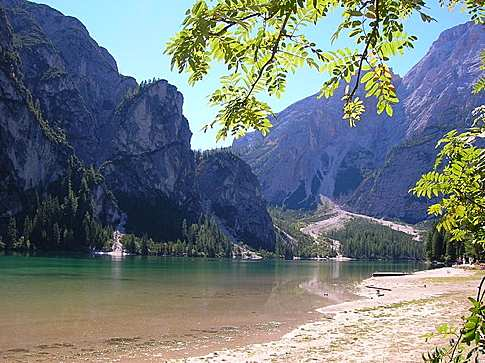 Another view of Braies Lake, Italy