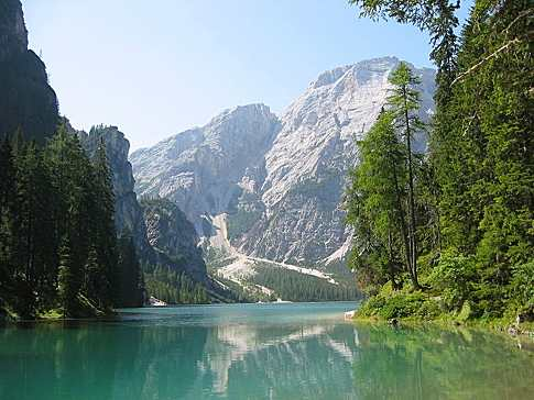 Another of many lovely Italian lakes - Braies Lake in the Alto Adige area of Italy