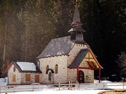 A chapel near Lake Braies, Italy