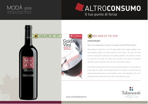 Wine of the Year -Talamonti Moda 2009