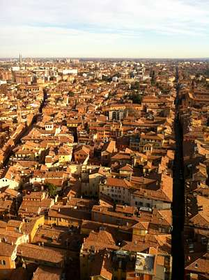Bologna in Italy - still as red at ever
