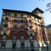 Just one of many apartment buildings in Milan, Italy