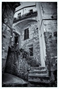 The Black and White Cinque Terre