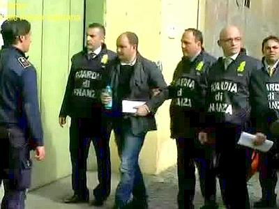 Vincenzo Maruccio being arrested