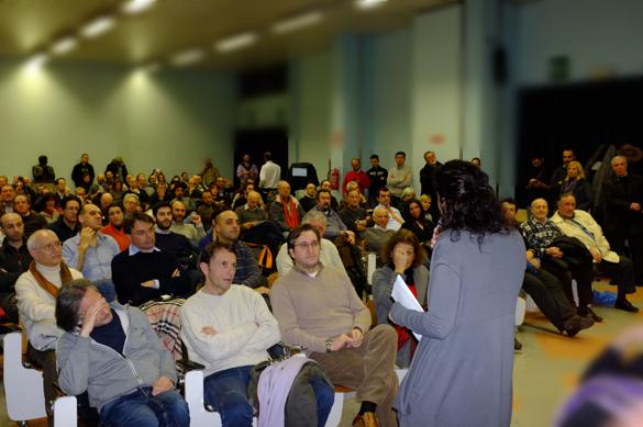 Paola Carinelli Addressing the Audience