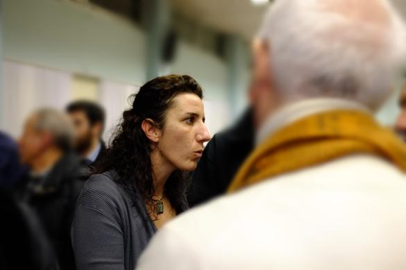 Five Star Movement MP Paola Carinello Chatting after the Meeting