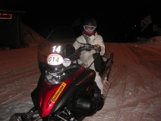 snow mobiling in Madesimo, Italy