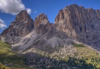 Sassolungo in The Dolomites. Italy
