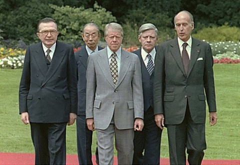 Giulio Andreotti, far left, with G7 leaders in 1978
