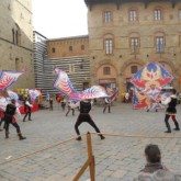 Flag throwers in Volterra. Photo by Jenny