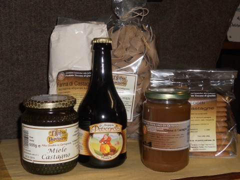 Chestnut products from Tuscany - Photo Jenny Mead