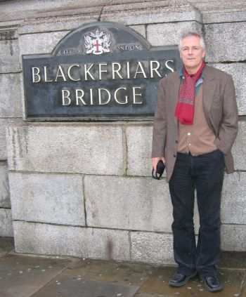 Philip Willan at Blackfriars Bridge