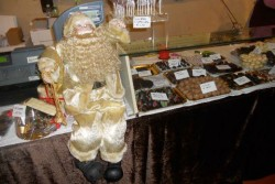 chocolate santa in barga