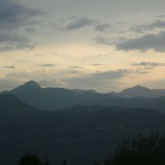 apua alps at sunset