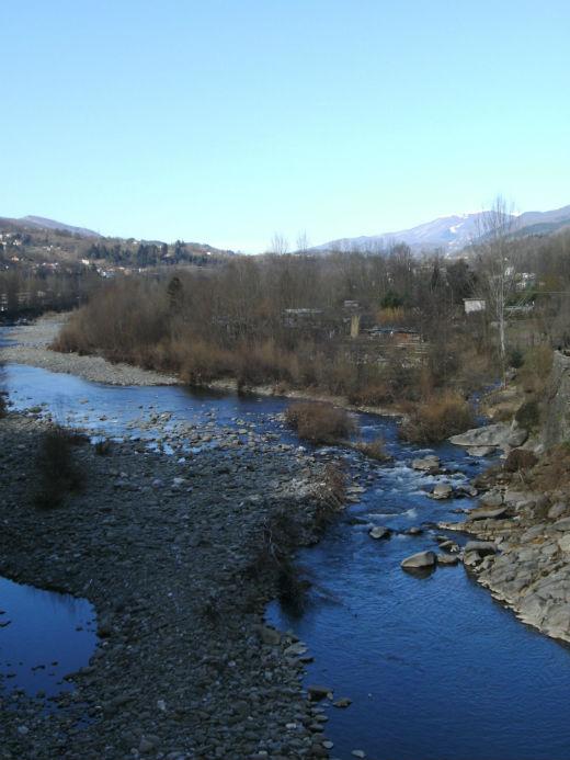 River Serchio at Castelnuovo di Garfagnana Photo Jenny Mead