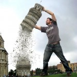 Leaning Tower of Pisa Attacked by Man-Sized Monster!