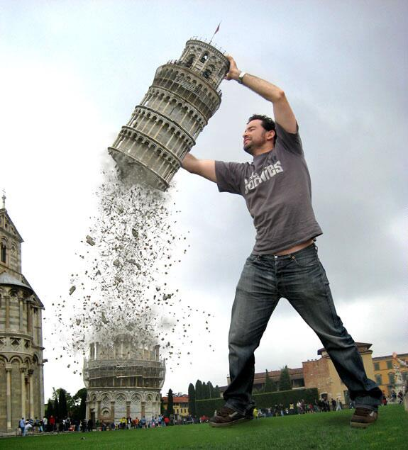 Leaning Tower of Pisa Attacked and Torn in Two!
