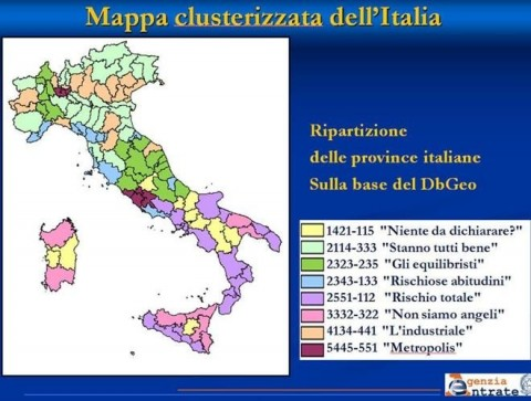 Tax Evasion Risk Map of Italy