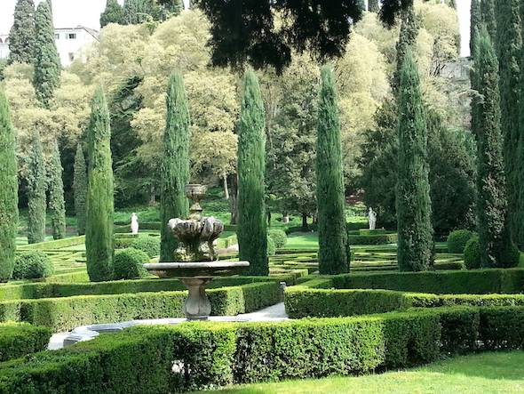 The Tranquil Giusti gardens in Verona